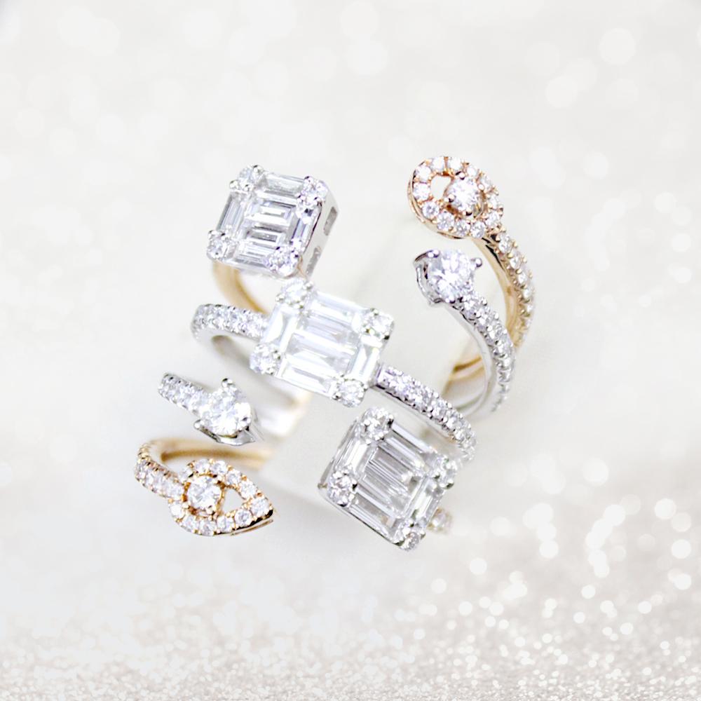 Intertwined Diamond Ring